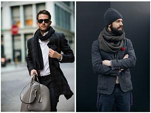 5 способов стильно равным образом авантажно увязать мужеский шарф