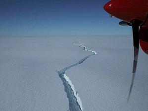 По просторам Антарктиды дрейфует огромный айсберг