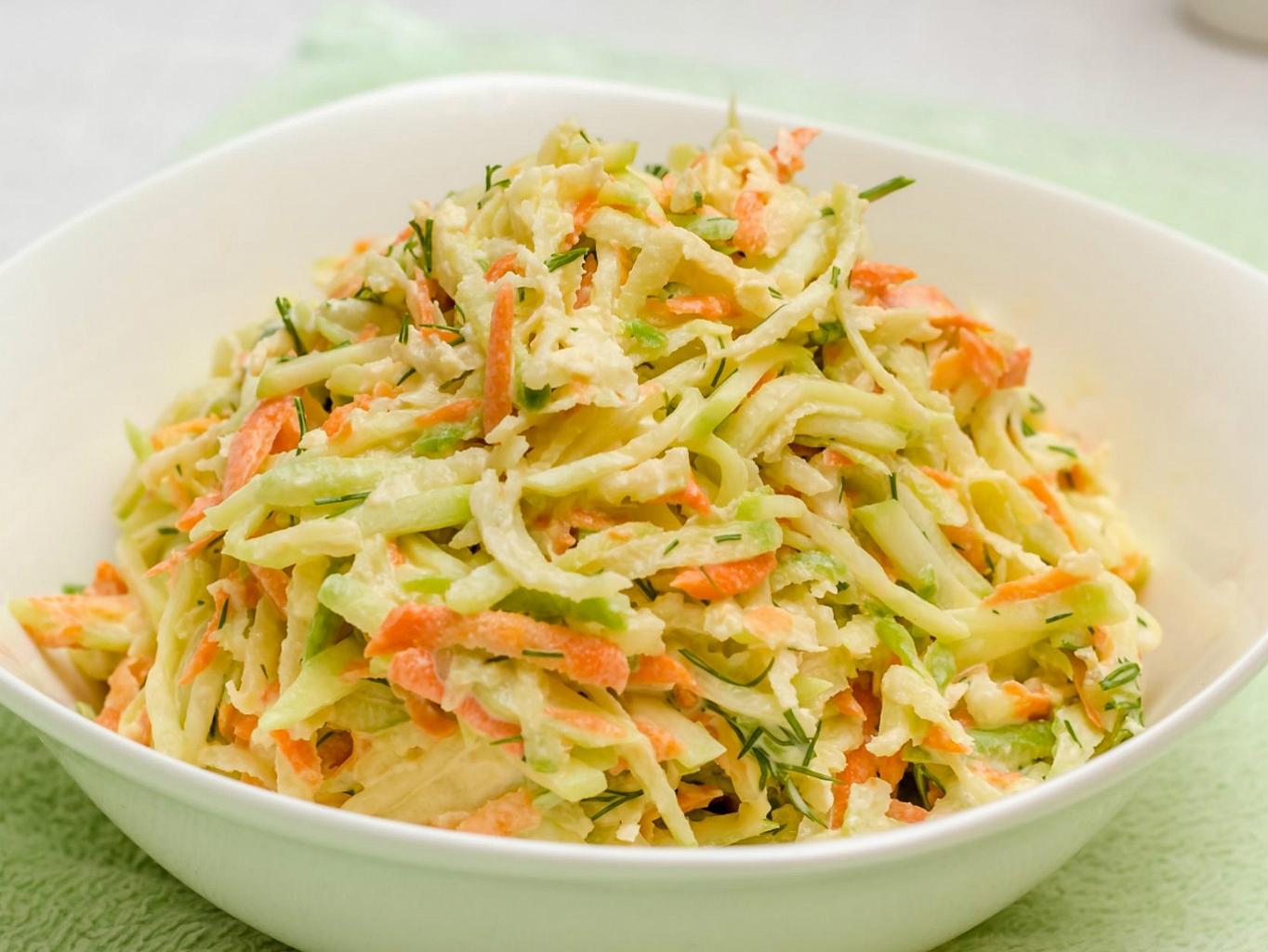 Витаминный салат из капусты и моркови рецепт с