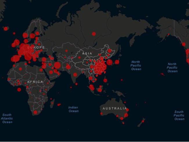 Опубликована онлайн-карта государств, закрытых из-за коронавируса